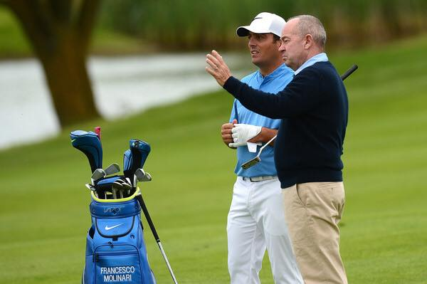 Denis Pugh coaches Francesco Molinari