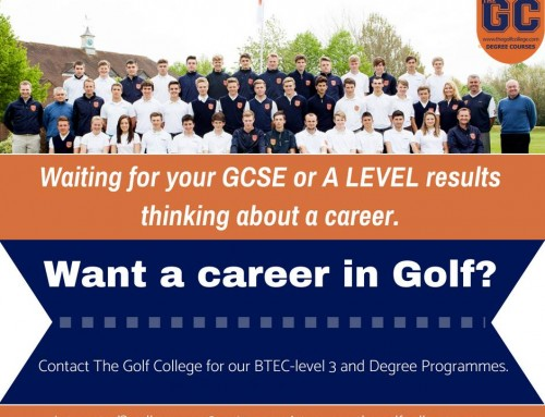 Waiting for Your GCSE or A-Level results want a career in Golf?