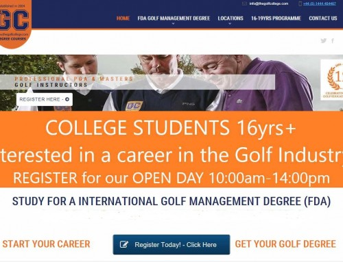 Study a Foundation Degree in International Golf Management (FdA)