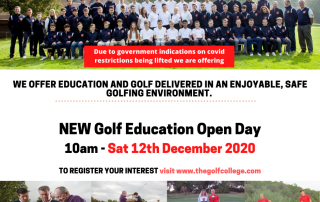 The Golf College Open Day 12th December 2020