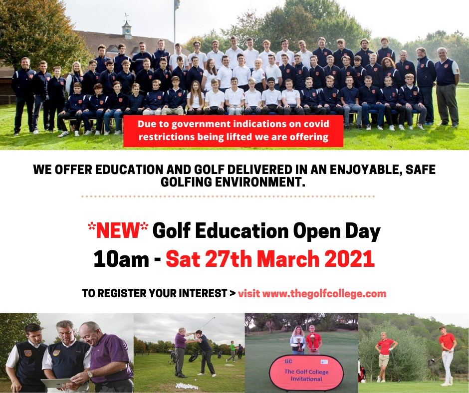 The Golf College - OPEN DAY 27TH MARCH 2021